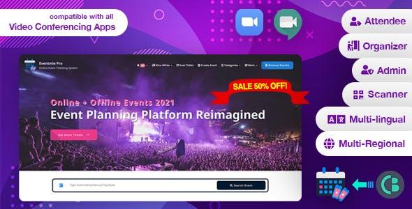 Eventmie Pro- Online-Offline Event & Classes Ticket Selling & Management Multi-vendor Platform v1.6