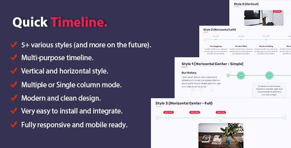 Quick Timeline For WordPress