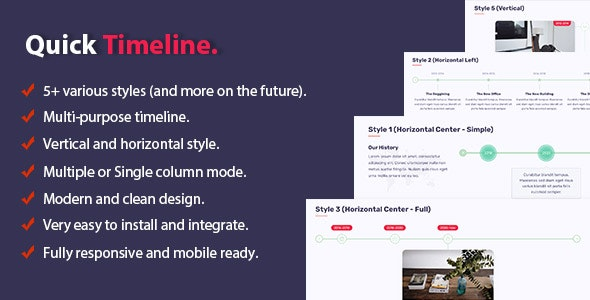 Quick Timeline For WordPress - CodeCanyon Item for Sale