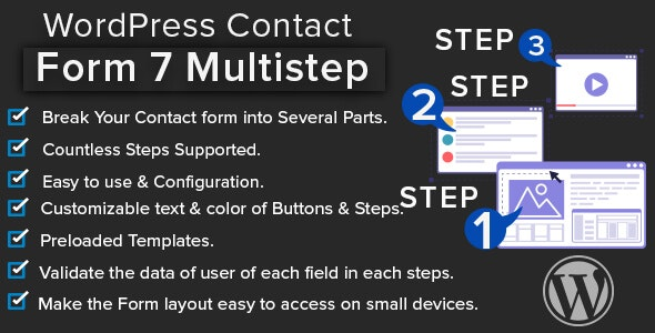 WordPress Contact Form 7 Multistep - CodeCanyon Item for Sale