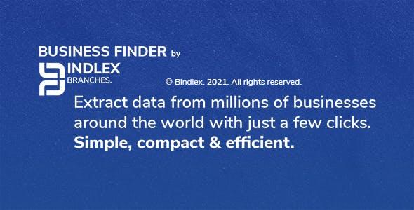 Bindlex Business Finder - Advanced program for extracting business data.