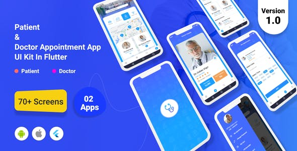 TeleDoc - Patient And Doctor Appointment App UI Kit in Flutter