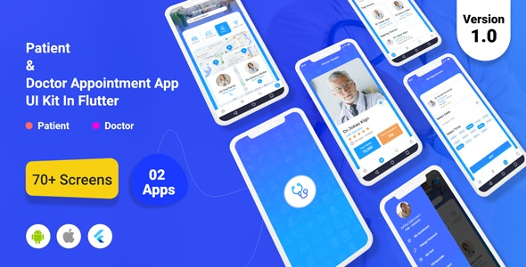 TeleDoc - Patient And Doctor Appointment App UI Kit in Flutter - CodeCanyon Item for Sale