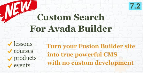 Custom Search Element for Avada Builder