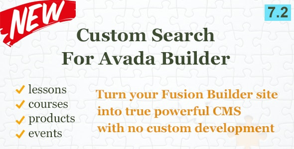 Custom Search Element for Avada Builder - CodeCanyon Item for Sale