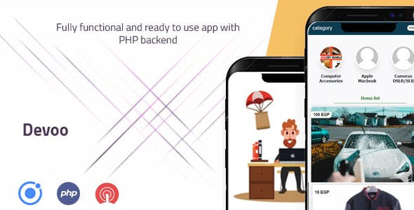 IONIC 5 Ecommerce APP with PHP backend system
