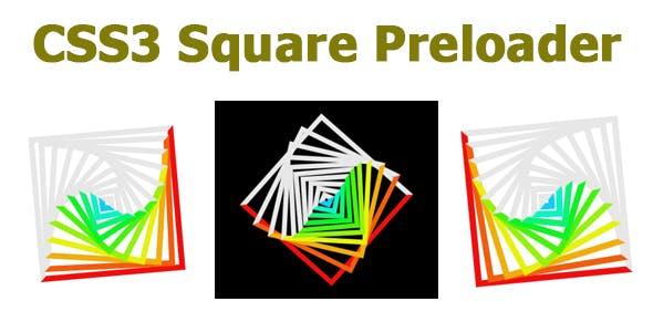 CSS3 Square Preloader