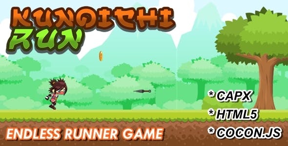 Kunoichi Run - Construct 2 Game