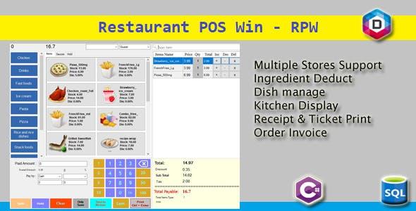 Rest POS Win - Restaurant POS Win - RPW