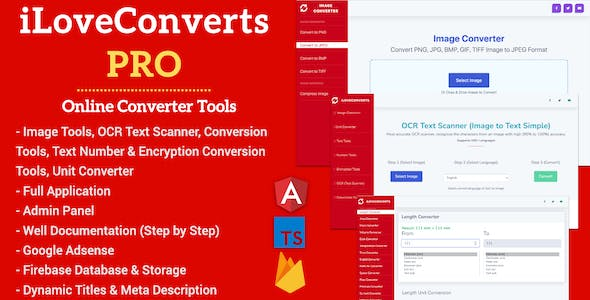 [All in One] iLoveConverts PRO - Online Converter Tools Full Production Ready App with Admin Panel