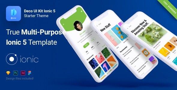 Deco UI Kit - Multi-purpose Starter Ionic 5 App Template - Angular 10, Sass, Firebase