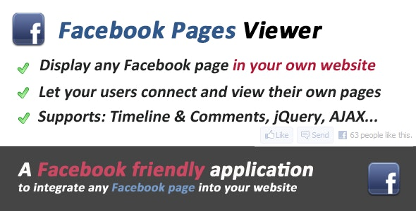 Facebook Pages Viewer - CodeCanyon Item for Sale