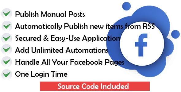 Facebook Pages AutoPoster via RSS