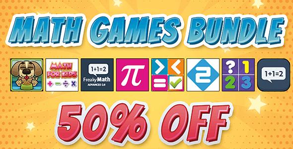 MATH GAMES BUNDLE - MEGA EDUCATIONAL HTML5 GAMES BUNDLE (Construct 2)