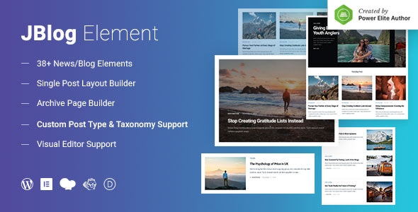 JBlog Elements - Magazine & Blog Add Ons for Elementor & WPBakery Page Builder - CodeCanyon Item for Sale