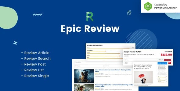 Epic Review WordPress Plugin & Add Ons for Elementor & WPBakery Page Builder - CodeCanyon Item for Sale