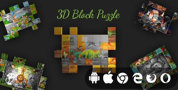 3D Block Puzzle - Cross Platform Realistic Puzzle Game