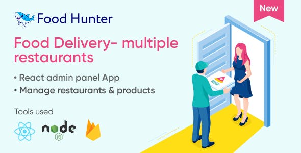 Food delivery admin panel with React & Firebase - Food Hunter