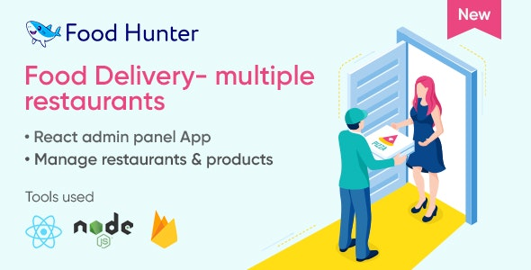 Food Delivery Admin Panel React & Firebase - Multi Restaurants - Food Hunter - CodeCanyon Item for Sale