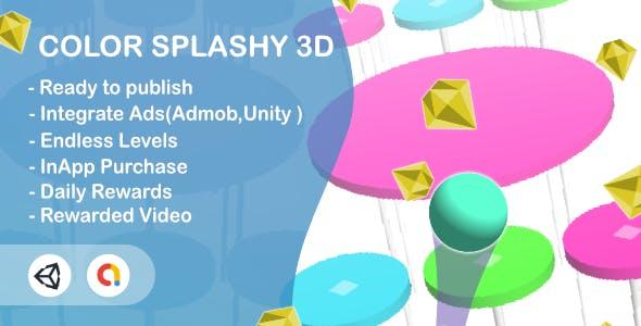 Color Splashy(Unity Game+Admob+iOS+Android)