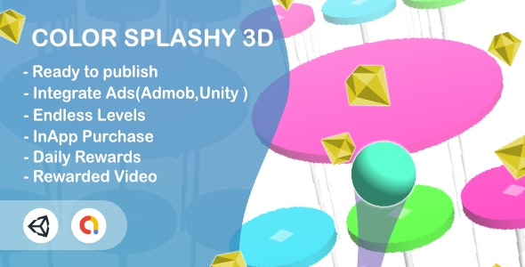 Color Splashy(Unity Game+Admob+iOS+Android) - CodeCanyon Item for Sale