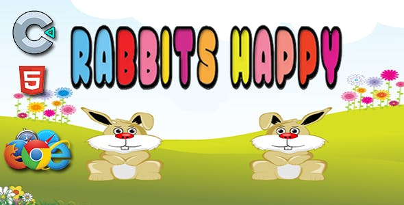 Happy Rabbits - HTML5 Mobile Game