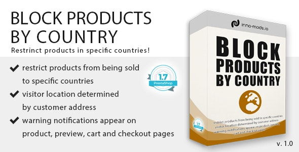 Block Products By Country - CodeCanyon Item for Sale