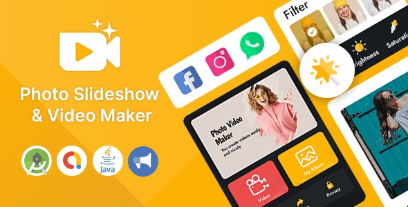 Photo Slideshow & Video Maker for Android App - CodeCanyon Item for Sale