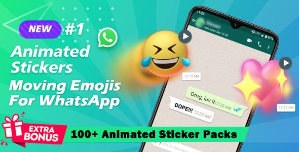 3D Animated Emojis Sticker for WhatsApp (Working Code)