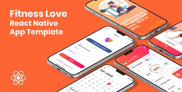 Fitness Love - React Native App Template