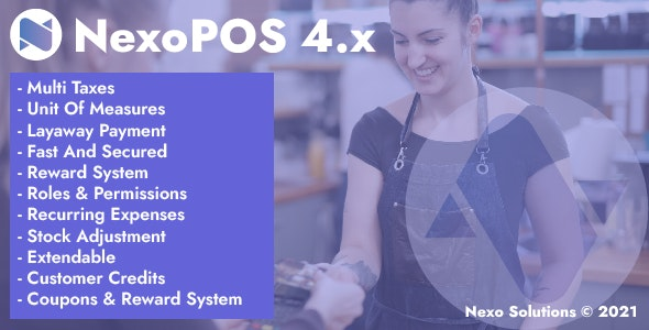 NexoPOS 4.x - POS, CRM & Inventory Manager - CodeCanyon Item for Sale