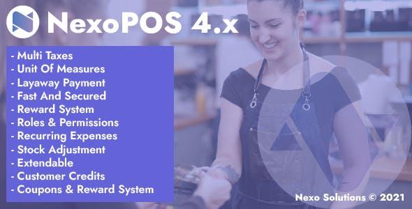 NexoPOS 4.x - POS, CRM & Inventory Manager