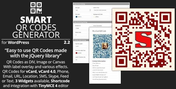 Smart QR Codes Generator - Plugin for WordPress - CodeCanyon Item for Sale