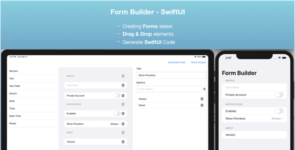 Form Builder - SwiftUI