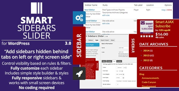Smart Sidebars Slider - Plugin for WordPress - CodeCanyon Item for Sale