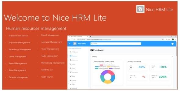 NICE – HRM Web App Based on ASP.NET Core 5.x.x MVC