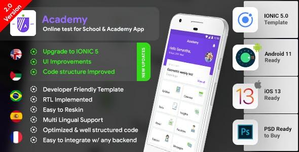 Online Class App  Online School App  Online Exam App  Online Coaching App  IONIC 5  Android + iOS