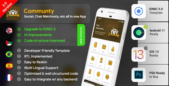 Community Android App Template + Community iOS App Template  IONIC 5 - CodeCanyon Item for Sale