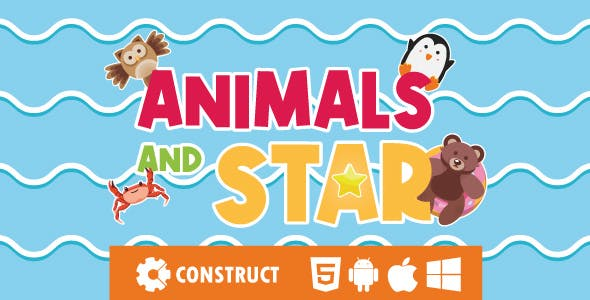 Animals and Star - HTML5 Educational Game