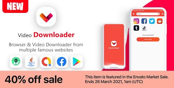 New Video Downloader & Browser App V1 - CodeCanyon Item for Sale
