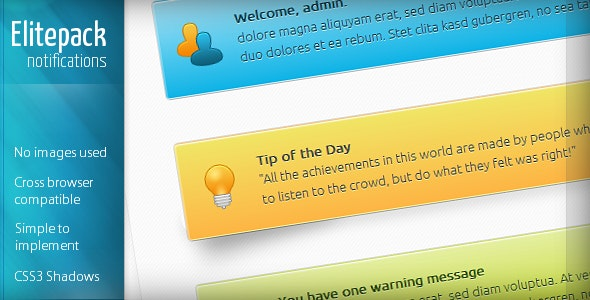 Elitepack CSS3 Notification Boxes - CodeCanyon Item for Sale