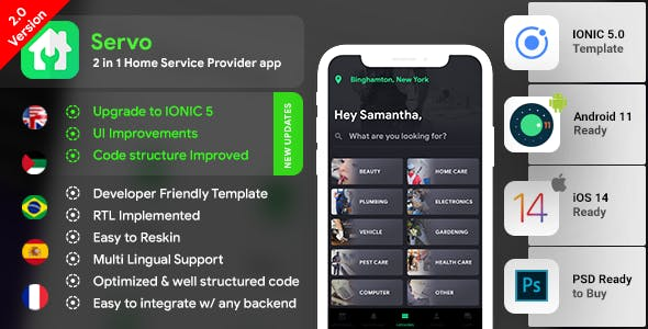 Home Service Finder  Provider  Booking Android + iOS App Template   2 Apps   Handyman App   IONIC 5