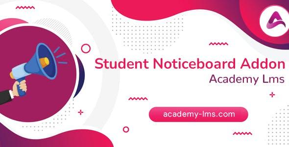 Academy LMS Noticeboard Addon
