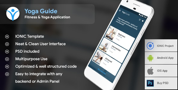 Yoga Android app + Yoga iOS App |  Template (HTML + CSS in IONIC 3) - CodeCanyon Item for Sale