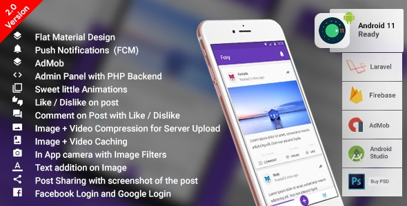 Anonymous Social Network Android App| Laravel PHP Backend | Anonymous App | Foxy - CodeCanyon Item for Sale