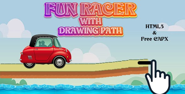 Fun Racer with Drawing Path (HTML5 | CAPX | Cordova) Car Racing Game