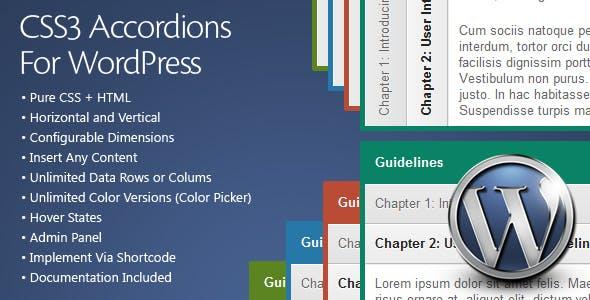 CSS3 Accordions For WordPress