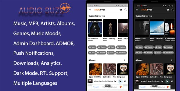 AudioBuzz - Flutter Music App for Android & IOS
