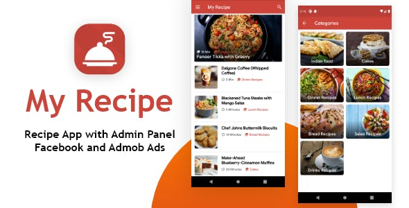My Recipe App with Admin Panel and Facebook, Admob Ads