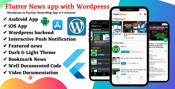 Flutter WP News - Android/iOS App for WordPress